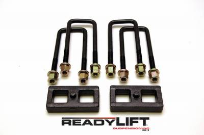 ReadyLift - ReadyLift 1.0in. TALL OEM STYLE REAR LIFT BLOCK KIT WITH U-BOLTS 66-4001
