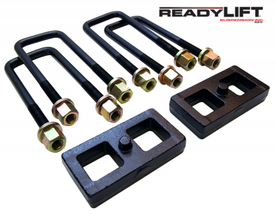 ReadyLift - ReadyLift 1.0in. TALL OEM STYLE REAR LIFT BLOCK KIT WITH U-BOLTS 66-5001
