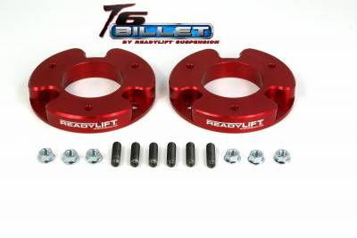 ReadyLift - ReadyLift 1.5in. T6 BILLET ALUMINUM LEVELING KIT ANODIZED, RED IN COLOR T6-4010-R