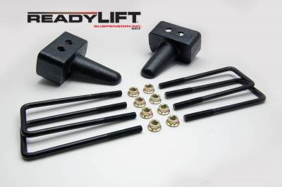 ReadyLift - ReadyLift 3.0in. TALL OEM STYLE REAR LIFT BLOCK KIT WITH U-BOLTS 66-2053