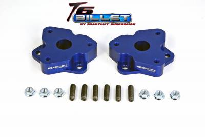 ReadyLift - ReadyLift 2.0in. T6 BILLET ALUMINUM LEVELING KIT ANODIZED, BLUE IN COLOR T6-1030-B