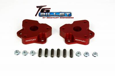 ReadyLift - ReadyLift 2.0in. T6 BILLET ALUMINUM LEVELING KIT ANODIZED, RED IN COLOR T6-1030-R