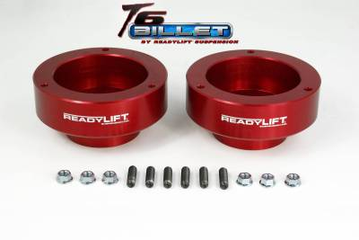 ReadyLift - ReadyLift 2.0in. T6 BILLET ALUMINUM LEVELING KIT ANODIZED, RED IN COLOR T6-1090-R
