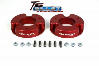 ReadyLift - ReadyLift 2.0in. T6 BILLET ALUMINUM LEVELING KIT ANODIZED, RED IN COLOR T6-4000-R