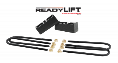 ReadyLift - ReadyLift 2.0in. TALL OEM STYLE REAR LIFT BLOCK KIT WITH U-BOLTS 66-3052