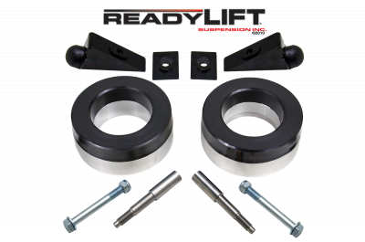ReadyLift - ReadyLift 2.25in. FRONT POLY/STEEL COIL SPACER KIT WITH SHOCK AND BUMP STOP EXTENSIONS 66-1055