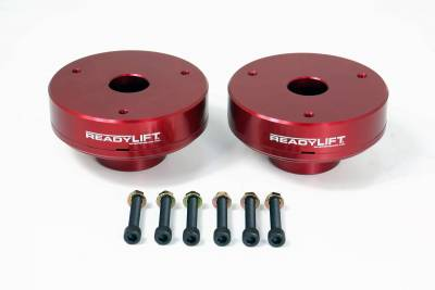 ReadyLift - ReadyLift 2.25in. T6 BILLET ALUMINUM LEVELING KIT ANODIZED, RED IN COLOR T6-3085-R