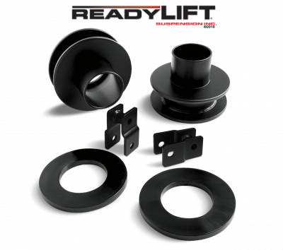 ReadyLift - ReadyLift 2.5in. FRONT COIL SPACER KIT WITH POLY SOUND ISOLATOR RINGS AND SHOCK EXTENSIONS 66-2095
