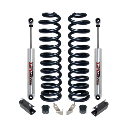 ReadyLift - ReadyLift 2.5in. LIFT FRONT COIL SPRING KIT INCLUDES FRONT SHOCKS 46-2440