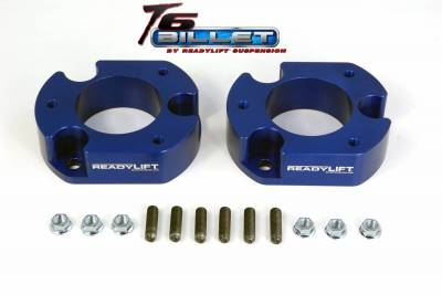 ReadyLift - ReadyLift 2.5in. T6 BILLET ALUMINUM LEVELING KIT ANODIZED, BLUE IN COLOR T6-2058-B