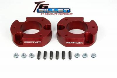 ReadyLift - ReadyLift 2.5in. T6 BILLET ALUMINUM LEVELING KIT ANODIZED, RED IN COLOR T6-2058-R
