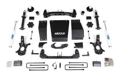 "BDS Suspension - BDS - 4"" Suspension Lift for the new 2014-18 Chevy/GMC 1500 4wd - W/O Magneride"
