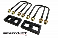 Components - Leaf Springs & Accessories - ReadyLift - ReadyLift 1.0in. REAR OEM STYLE LIFT BLOCK KIT 66-1101