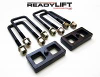 Components - Leaf Springs & Accessories - ReadyLift - ReadyLift 1.0in. TALL OEM STYLE REAR LIFT BLOCK KIT WITH U-BOLTS 66-3051