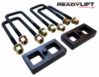 Components - Leaf Springs & Accessories - ReadyLift - ReadyLift 1.0in. TALL OEM STYLE REAR LIFT BLOCK KIT WITH U-BOLTS 66-5001