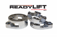 ReadyLift - ReadyLift 1.0in.-2.0in. ADJUSTABLE FRONT COIL SPACER LEVELING KIT, BILLET ALUMINUM. 66-6095