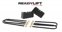 Components - Leaf Springs & Accessories - ReadyLift - ReadyLift 3.0in. TALL OEM STYLE REAR LIFT BLOCK KIT WITH U-BOLTS 66-3003