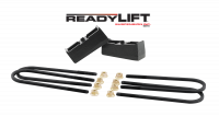 Components - Leaf Springs & Accessories - ReadyLift - ReadyLift 2.0in. TALL OEM STYLE REAR LIFT BLOCK KIT WITH U-BOLTS 66-3052