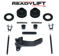 ReadyLift - ReadyLift 2.5in. FRONT COIL SPACER LEVELING KIT WITH TRACK BAR RELOCATION BRACKET 66-2515
