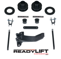 ReadyLift - ReadyLift 2.5in. FRONT COIL SPACER LEVELING KIT WITH TRACK BAR RELOCATION BRACKET 66-2516